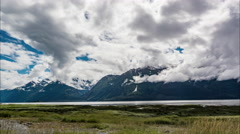 Alaskan Coastal Plains Time Lapse Stock Footage