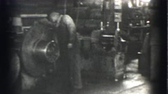 1939: machinist at work LOS ANGELES, CALIFORNIA Stock Footage