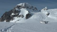 Bush Plane Glacier Take-Off Stock Footage