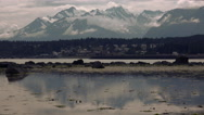 Chilkat Mountains ans Haines Alaska Time Lapse Stock Footage