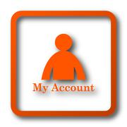 My account icon. Internet button on white background.. Stock Illustration