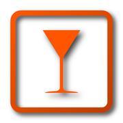 Martini glass icon. Internet button on white background.. Stock Illustration