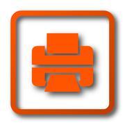 Printer icon. Internet button on white background.. Stock Illustration