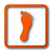 Foot print icon. Internet button on white background.. Stock Illustration