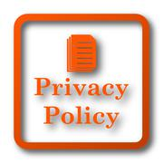 Privacy policy icon. Internet button on white background.. Stock Illustration