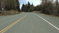 Country Road Mountain Driving POV Stock Footage