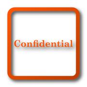 Confidential icon. Internet button on white background.. Stock Illustration