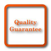 Quality guarantee icon. Internet button on white background.. Stock Illustration