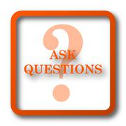 Ask questions icon. Internet button on white background.. Stock Illustration