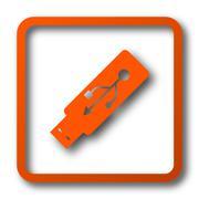 Usb flash drive icon. Internet button on white background.. Stock Illustration