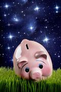 Pink Piggy Bank. Stock Photos