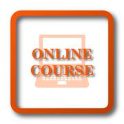 Online course icon. Internet button on white background.. Stock Illustration