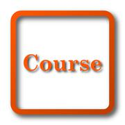 Course icon. Internet button on white background.. Stock Illustration