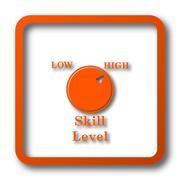 Skill level icon. Internet button on white background.. Stock Illustration