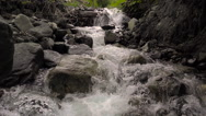 Fast Creek Slow Motion Slow Pull Back Waterfall Stock Footage