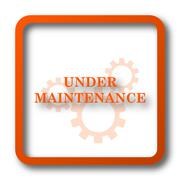 Under maintenance icon. Internet button on white background.. Stock Illustration