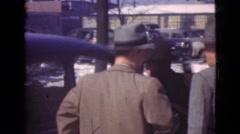 1939: men getting into a car LOS ANGELES, CALIFORNIA Stock Footage