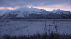 Frozen Winter Time Lapse Stock Footage