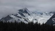 Glaciated Chilkat Peaks Alaska Wilderness Time Lapse Stock Footage