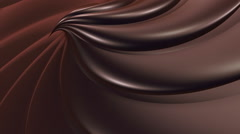 Chocolate swirl background Stock Footage