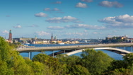 City view of Stockholm, Sweden Stock Footage