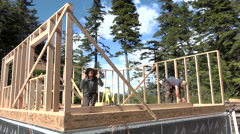 Happy Home Owner Giving Thumbs Up House Construction Arkistovideo