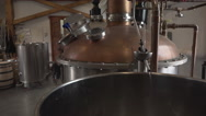 High Wine Draining From Whisky Distilling Stock Footage