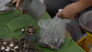 Thailand Chiang Mai Food Market Ordering Food Stock Footage