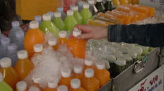 Thailand Chiang Mai Shopping for Juice Stock Footage