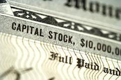 Close Up of Stock Certificate Stock Photos