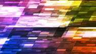 Twinkling Horizontal Slant Hi-Tech Small Bars, Multi Color, Abstract, Loop, 4K Stock Footage