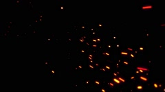 Sparks in the Dark Stock Footage