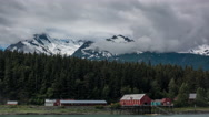 Old Letnikof Cannery Chilkat Time Lapse Stock Footage