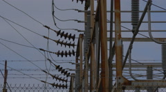 HIGH VOLTAGE RELAY STATION Stock Footage