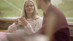 Couple on a date Stock Footage