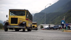Street Car Tourist Attraction Alaska Stock Footage