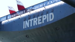 Real Of Intrepid Air Craft Carrier Stock Footage