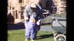 1946: walking in the old country: a little windy MIAMI. FLORIDA Stock Footage