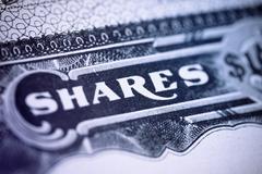 Shares Certificate Stock Photos