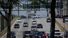 NYC Traffic Down West Side Highway Stock Footage