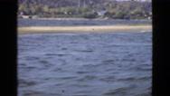 1946: racing on lake MIAMI. FLORIDA Stock Footage