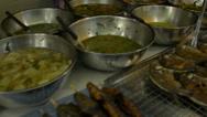 Thailand Street Market Row of Food Stock Footage