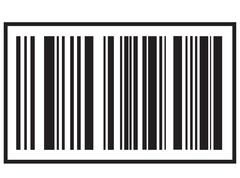 Barcode icon, Black bar code icon. Symbol about shopping concept. Stock Illustration