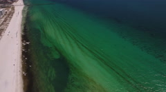 Shoreline beach ocean Stock Footage