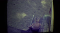 1946: father watches his kids playing LAS VEGAS, NEVADA Stock Footage
