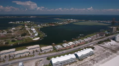 Pensacola Beach aerial Stock Footage
