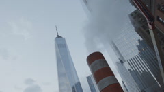 World Trade Center under construction - NYC Stock Footage