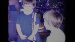 1961: christmas celebration SALTON SEA, CALIFORNIA Stock Footage