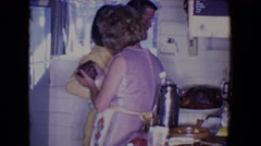1961: tender love and care: dinner edition SALTON SEA, CALIFORNIA Stock Footage