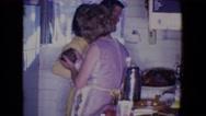 1961: tender love and care: dinner edition SALTON SEA, CALIFORNIA Stock Footage